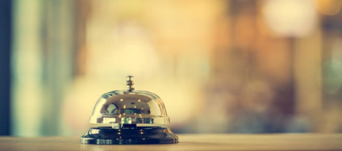 Reception Bell in Hotel