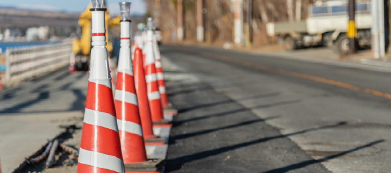 Roadwork traffic cones