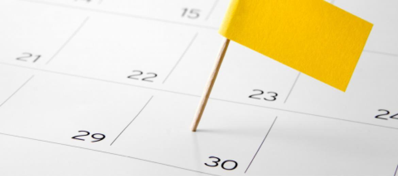 yellow flag in calendar