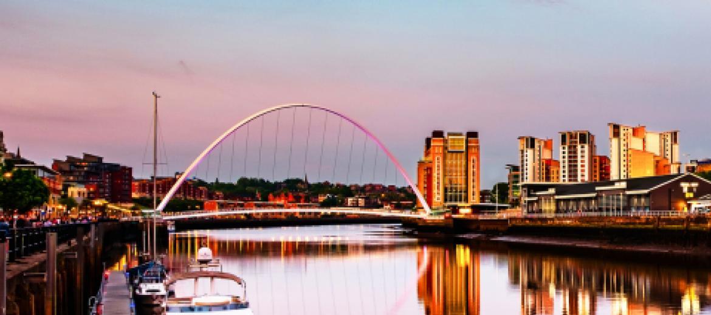 Millennium Bridge in Newcastle
