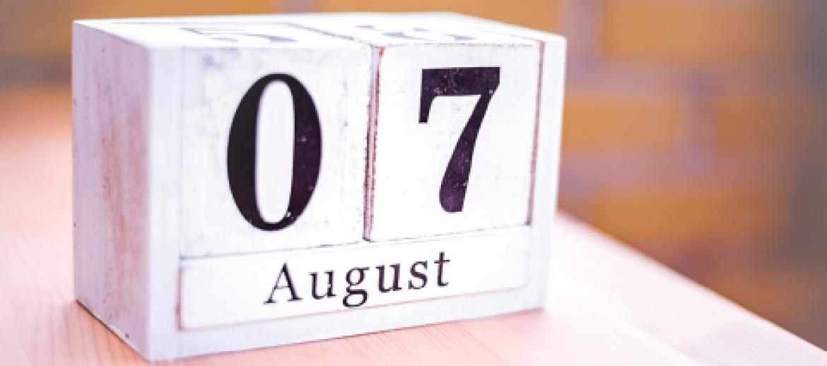 07 August date on blocks