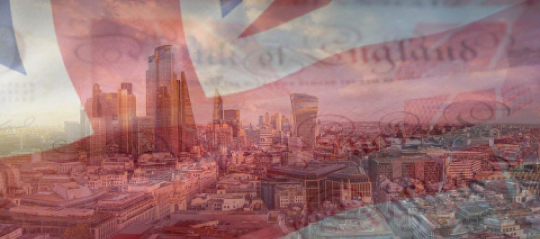 Union Jack and London Landscape