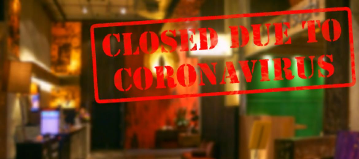 Bar and Restaurant closed due to Covid-19