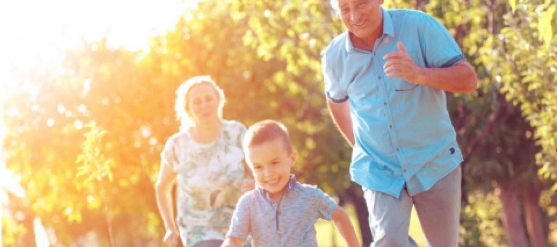 Grandparents running