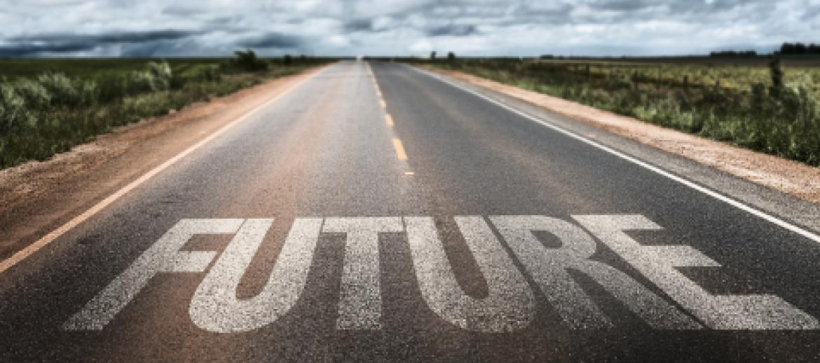 Future words on road