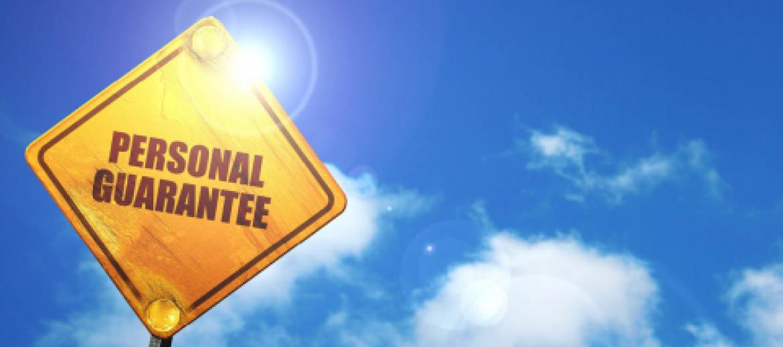 personal guarantee sign