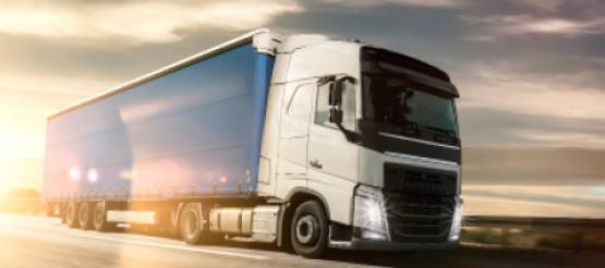 Transport lorry on motorway