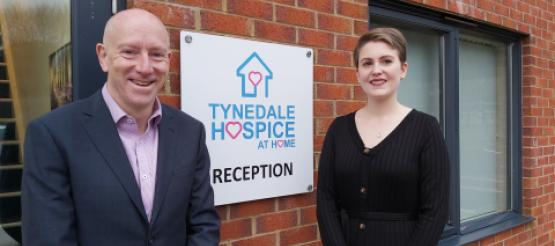 """Mike Thornicroft (CEO) and Charlotte Pearson (Head of Income Generation) – photo taken prior to COVID-19 restrictions."""""""