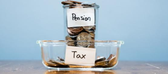 Pension and Tax Glass jars