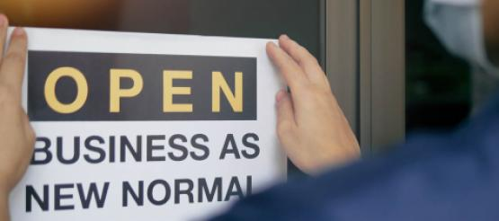 Open for Business as new Normal Sign
