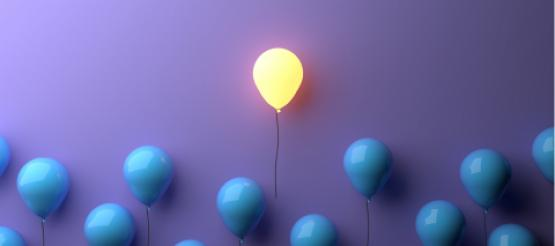 Balloon lit up floating