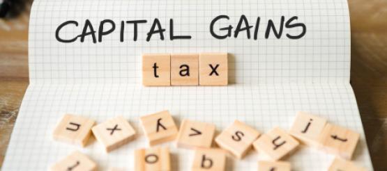 Capital Gains Tax scrabble pieces