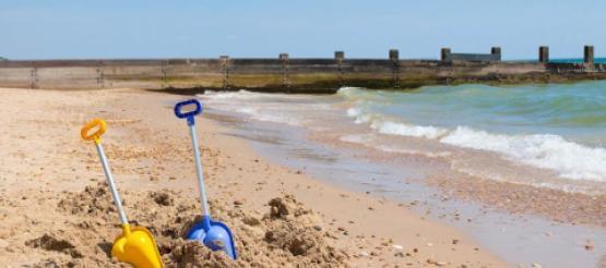 Empty Beach in UK