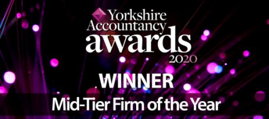 Mid-Tier of the year winner at the Yorkshire Accountancy Awards 2020