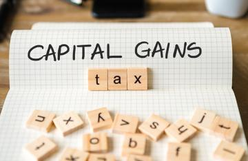 Capital Gains Tax spelled out in scrabble pieces