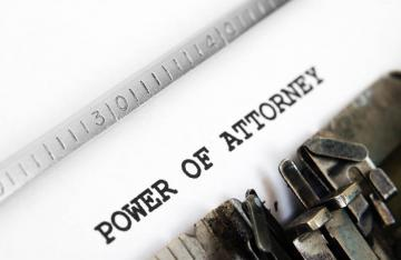 Lasting Power of Attorney typed on old typewritter