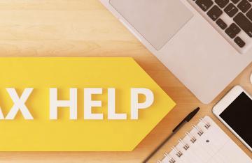 Tax Help sign