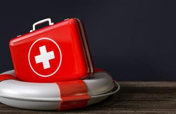 First aid on lifebouy
