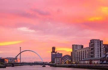 Scotland Glasgow syline