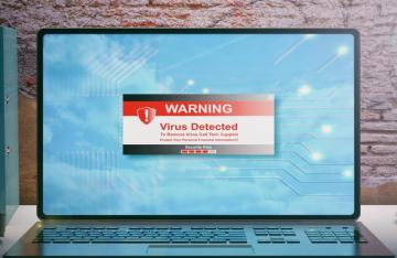 Working from Home Cyber Security Virus Scam
