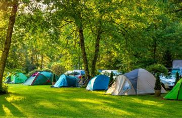 Campsite with tents