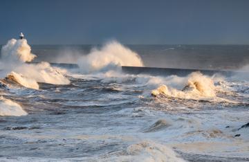 Choppy Waters at Sea