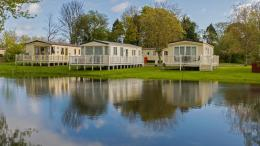 Holiday Park by a lake