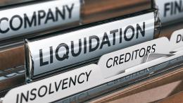 Liquidation, insolvency and creditors records in file