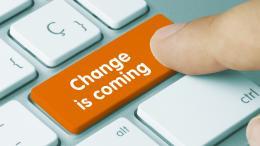Change is coming on keyboard