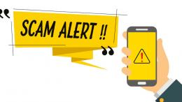 Scam Alert on a phone