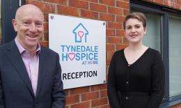 Mike Thornicroft (CEO) and Charlotte Pearson (Head of Income Generation) – photo taken prior to COVID-19 restrictions.""